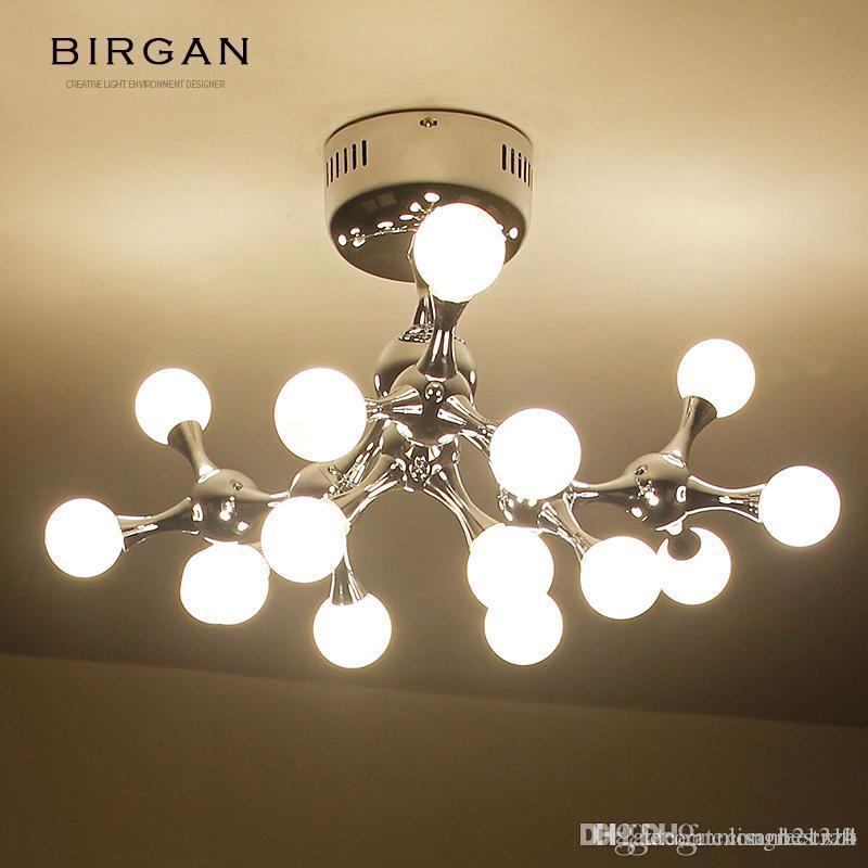 샹들리에 조명 램프 레트로 현대 산업 샹들리에 빛 매달려 라운드 볼 유리 샹들리에 램프 LED LOFT 산업