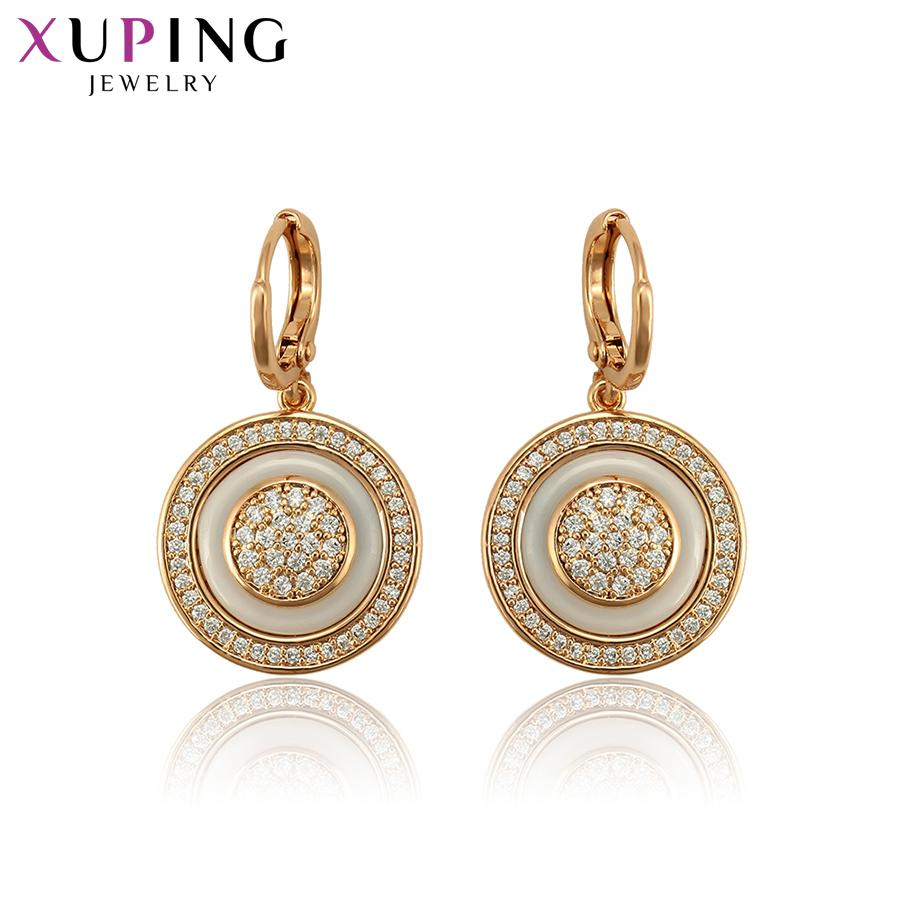 Xuping exquisite vergoldete Eardrops Ohrringe Modeschmuck für Frauen einfache Weihnachtsgeschenke S118.1-97651 Y19062703