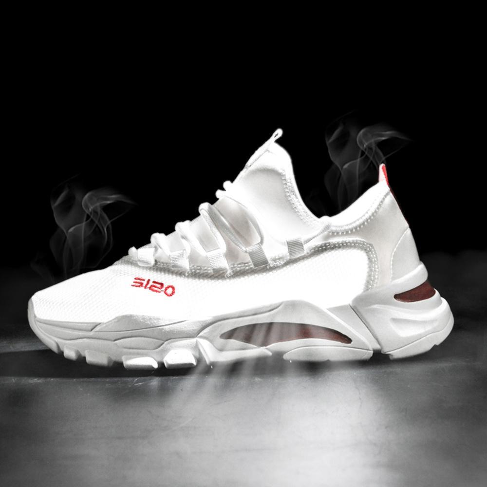 Homme Chaussures De Course Extérieur Respirant Sport Baskets Chaussures de marche à lacets 2019