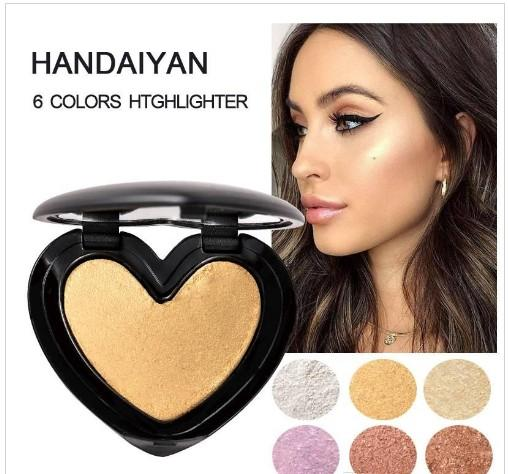HANDAIYAN Makeup Shimmer Highlighter Gesicht Kosmetik Pressed Powder Highlight Palette Erhellen Haut Contouring Iluminador maquiagem 12pcs / lot