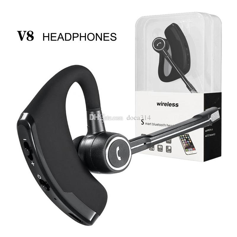 V8 Wireless Bluetooth Headsets With Mic Handsfree Earphones Bluetooth 4 0 Stereo Headphones For Samsung Iphone Xiaomi Cell Phone Headphones Corded Phone Headset From Doca314 5 82 Dhgate Com