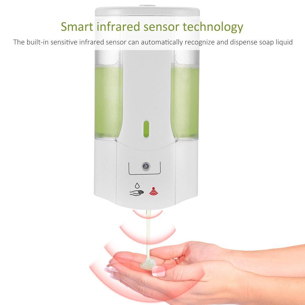 يعلق على الحائط منظف الاستشعار التلقائي Touchless الصيدلي الصابون الأشعة تحت الحمراء التعريفي الذكية السائل الرغوي اليد للأجهزة المنزلية الحياة