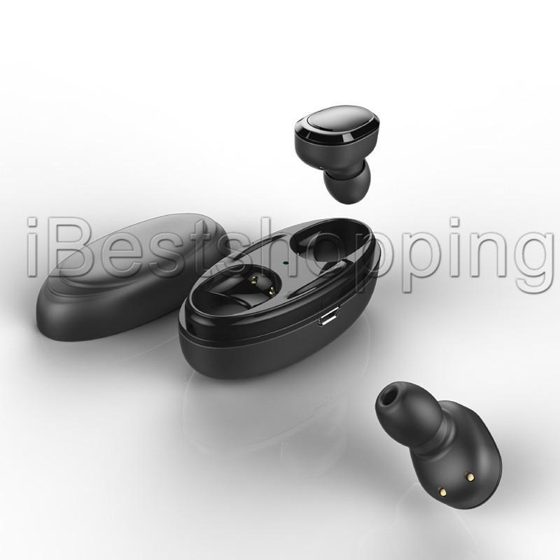 Tws Twins Bluetooth T12 Kablosuz Kulaklık ile şarj doku Kulakiçi Stereo Kulaklık için akıllı telefon 6Y2M