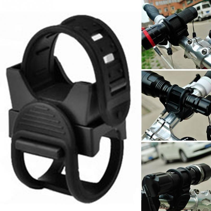 360° Bike Bicycle Cycling Flashlight Torch Mount Holder Front Head Light Clip US