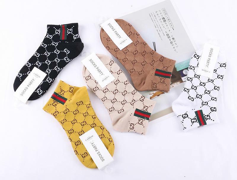 2019 novo estilo europeu e americano mulheres barco meias recém-nascido carta algodão meias curtas mulheres meias