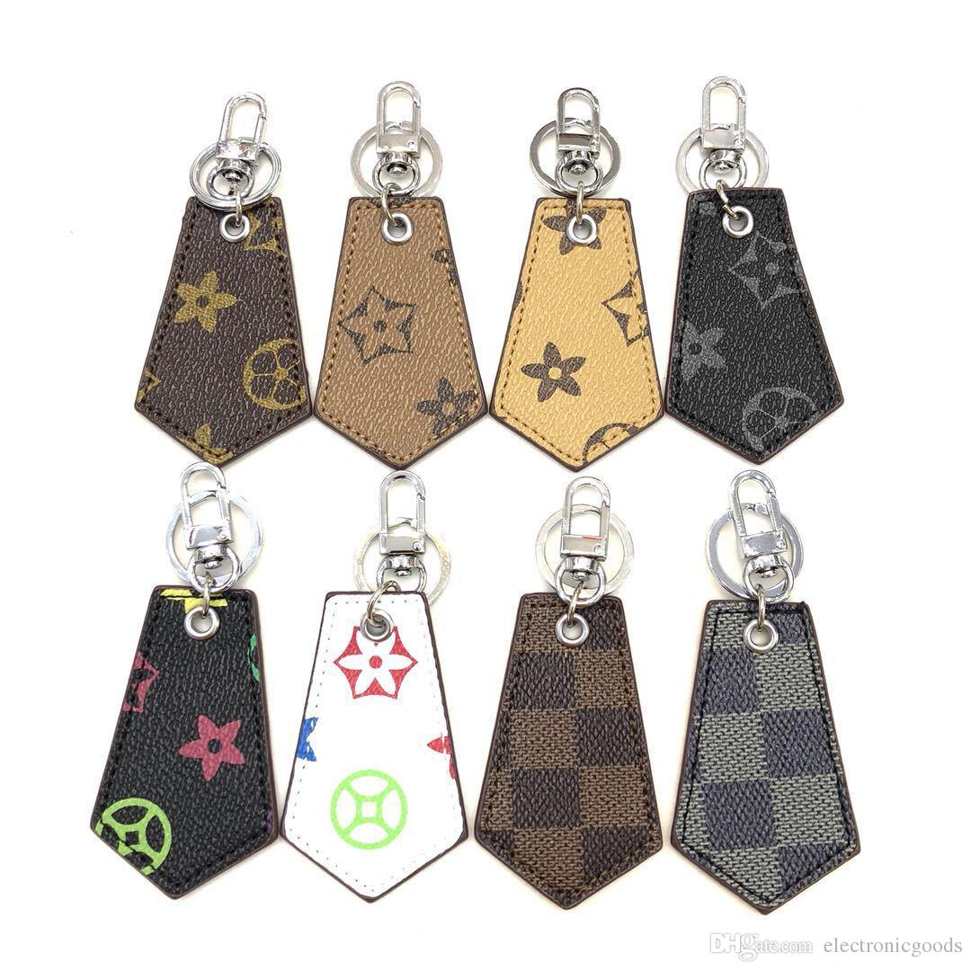 Keychain Leather Tag Cell Phone Straps Charms Accessories Eight Styles Car Keychain Fashion Universal Key Ring Holder Best Gift For Lover