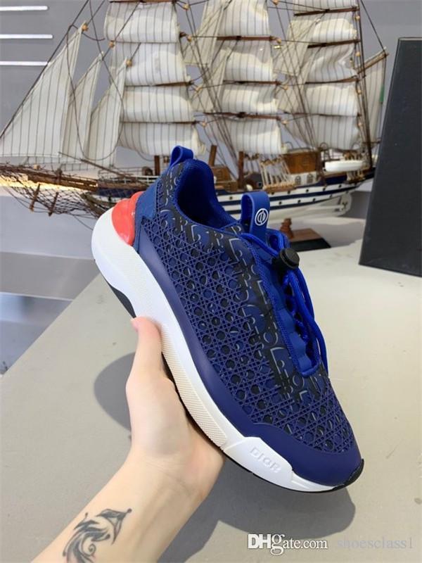 Christian Dior shoes Renkli Yansıma Günlük Ayakkabılar Platformu Moda Lüks Tasarımcı Kadınlar Sneakers xr200402 Mens