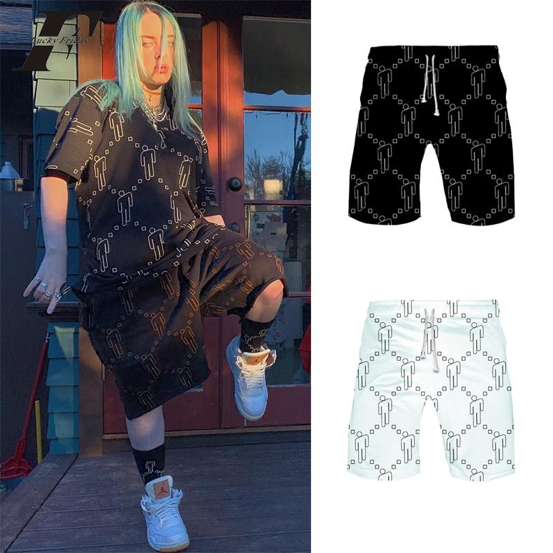 2020 Billie Eilish Shorts Women And Men White Fire Black Hip Hop 2019 Shorts Sexy Sports Hawaiian Magic High Waist Plus Size From Humphray 20 96 Dhgate Com