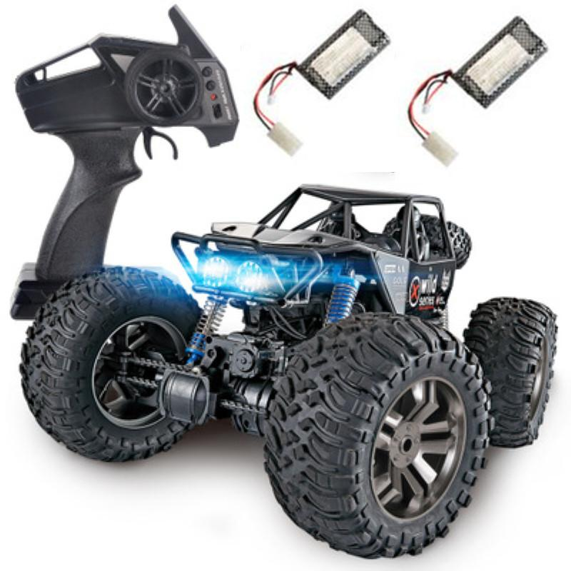 1:8 large 2.4G 4WD 48CM large size remote cotrol rock climber car toy with 2 rechargeable battery Spring damping RC Car gift toy