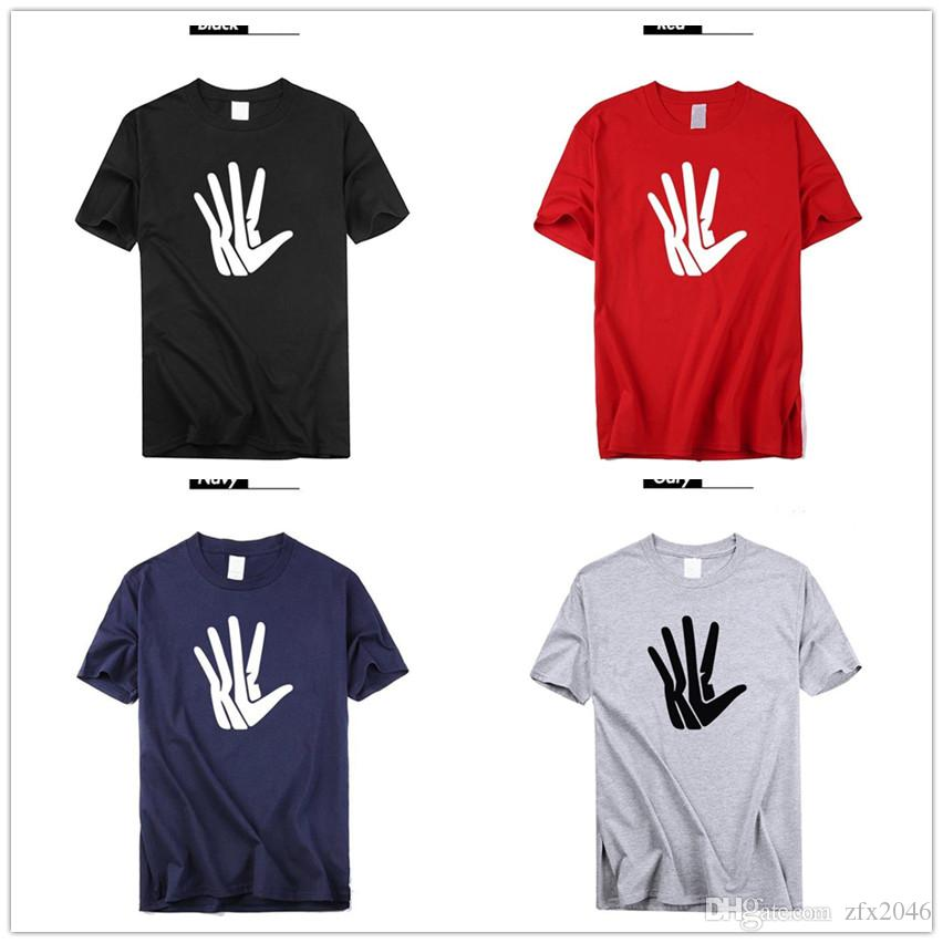 mens designer T shirts 2019 Kawhi Leonard Big palm Logo Basketball Shirts Hands Patches Fans Tops Tees Printed Brand fashion luxury funny