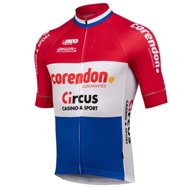 SPTGRVO LairschDan 2020 كم CORENDON السيرك فريق الدراجات جيرسي قصيرة رجل MTB دراجة جيرسي مايوه سباق الدراجات الملابس