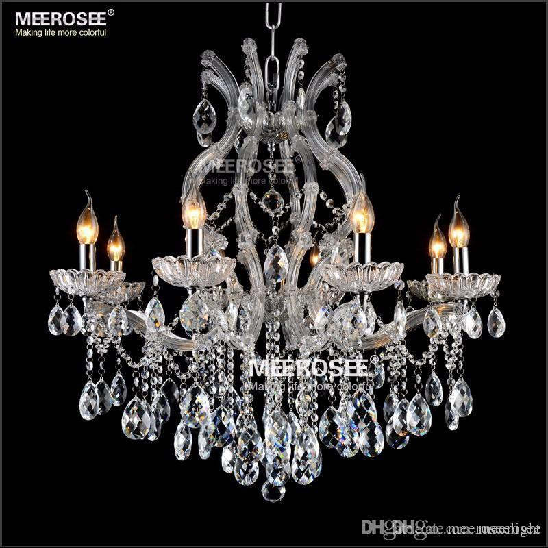 8 light Crystal Chandelier pendant Light Fixture Maria Theresa LED Crystal Luster Lamp Suspension Lighting for Lobby Stair Hallway project