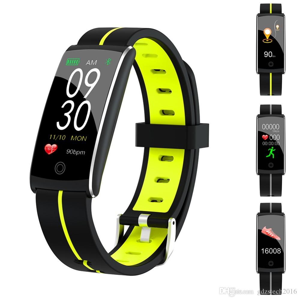 F10 Smart Bracelet IP68 Waterproof Color Screen Fitness Tracker Sport Remote Control Smart band for Android&iOS smart Phone