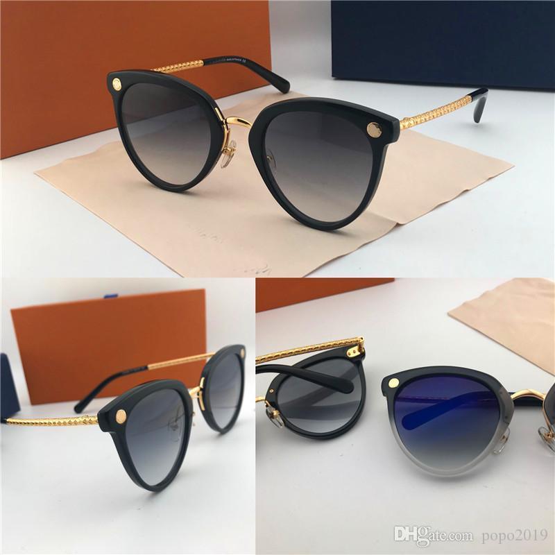 Le dernier modèle créateur de mode lunettes de soleil grande taille femmes haut cadre assorti de la couleur des yeux de chat qualité jambe lunettes copie fine de protection