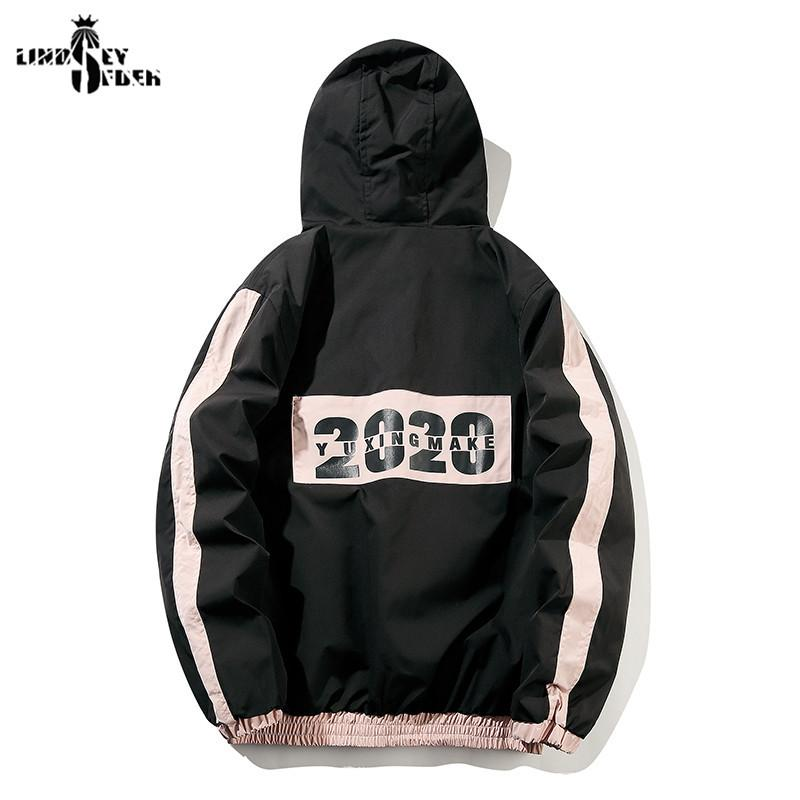 Mens Hip Hop Hooded Jacket Windbreaker Harajuku Vintage Camo Jackets Coat Autumn Camouflage Washed Denim Streetwear outwear