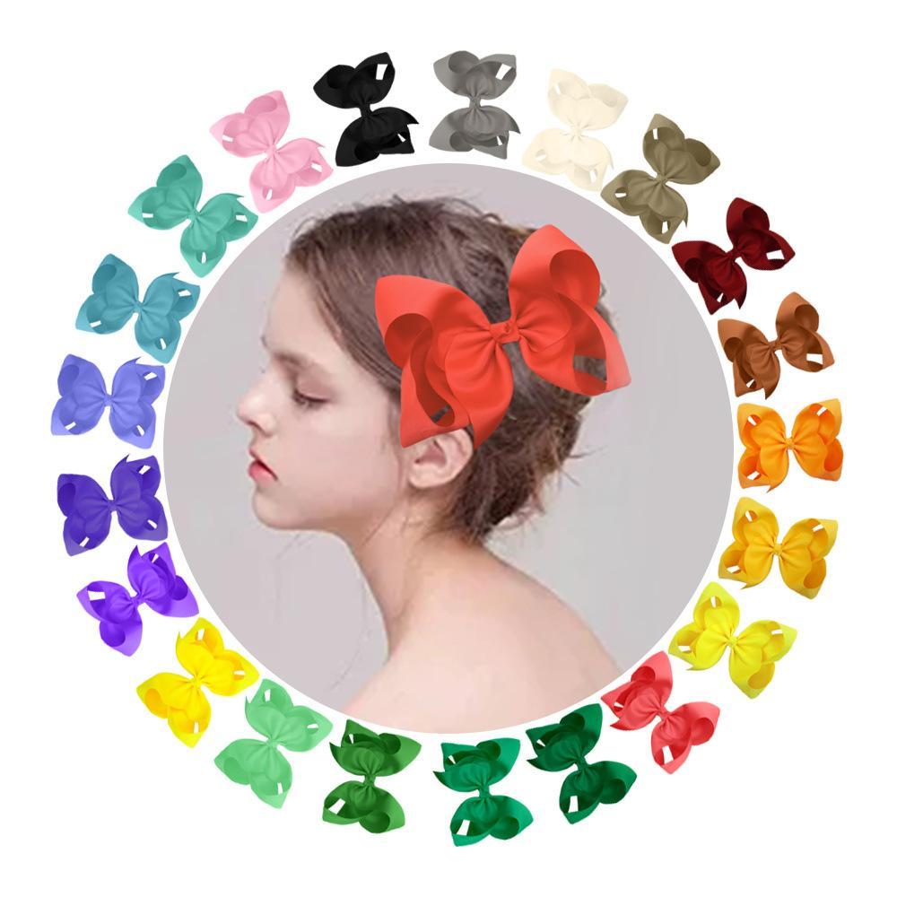 Esportati in Europa e negli Stati Uniti 8 pollici a colori caramelle accessori per capelli della forcella dell'arco dei bambini Barrettes 60 colori facoltativi