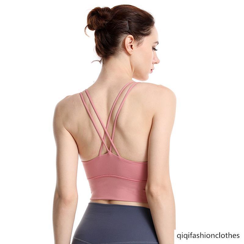 2019 clássico Verão à prova de choque Sports roupa interior feminina Cruz Beleza Voltar reunir Correndo Yoga Academia Bra