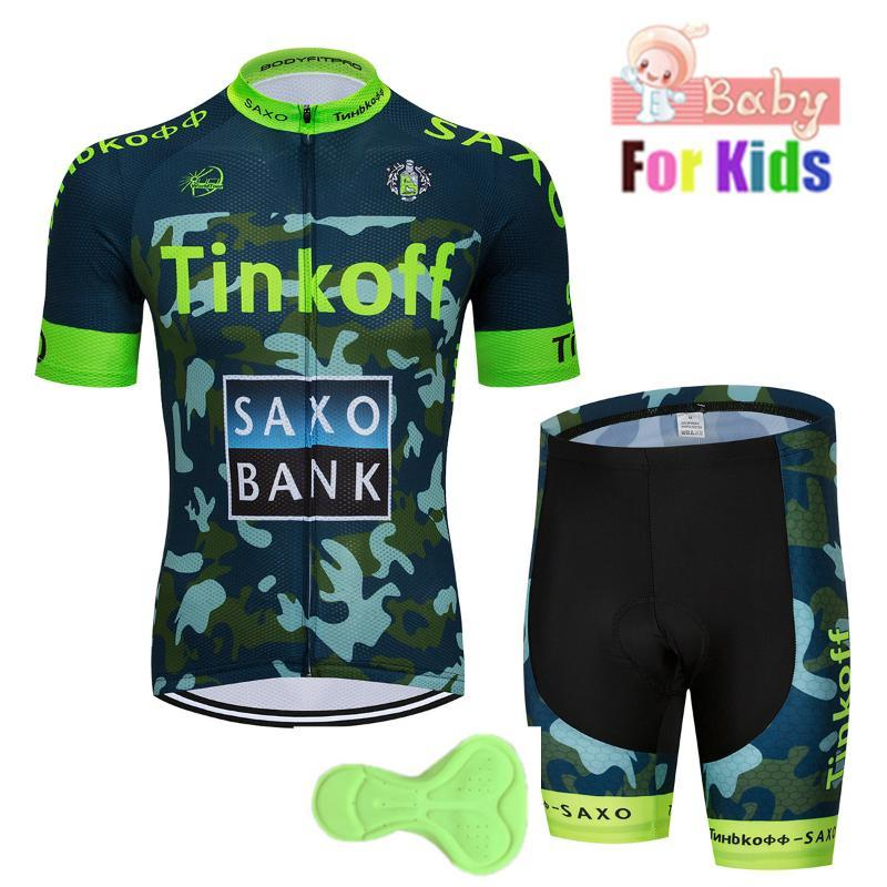 2020 Breathable Quick Dry Kids Cycling Jersey Set Shorts Fluorescent Pink Children Bike Clothing Boys Girls Summer Bicycle Wear