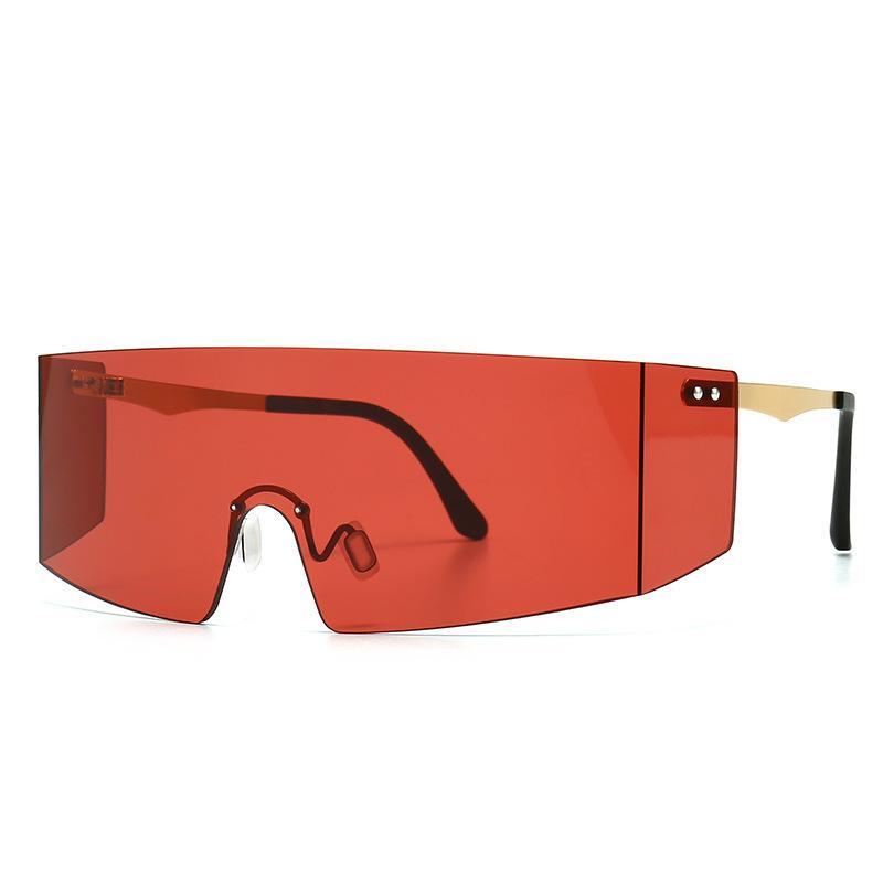 Männer übergroße Sonnenbrille Schild Goggles Frauen 2020 Brand Design mit großem Rahmen und One Piece Maske Futuristic Sun-Glas-Farbton S281 CH01
