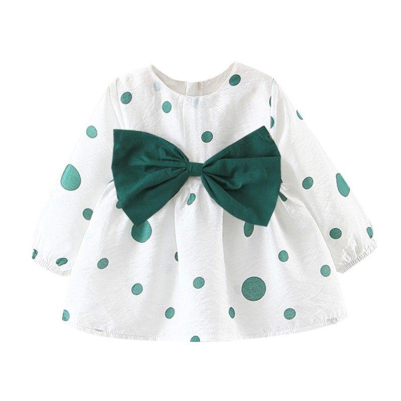 Bebek Çocuk Kız Elbise İlkbahar Sonbahar Chidlren Elbise Toddler Kız Elbise Bebek Pamuk Uzun Kollu Prenses Popüler Elbise