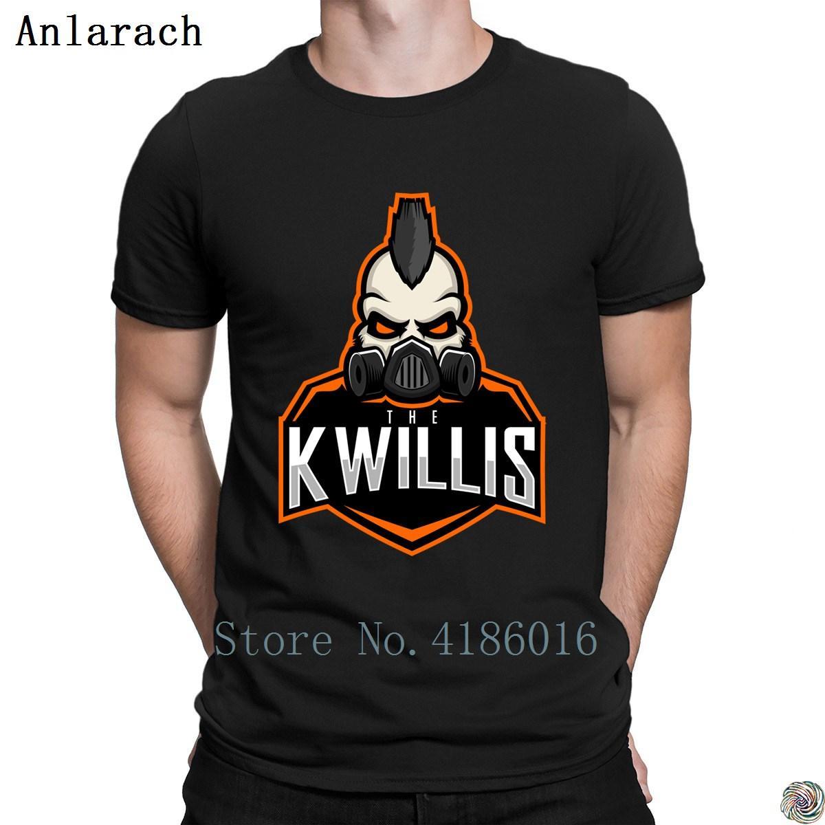 Os Kwillis tshirts Padrão Primavera Outono de alta qualidade projeta a camisa t para homens cómico tee topo básico contínuo simples de algodão