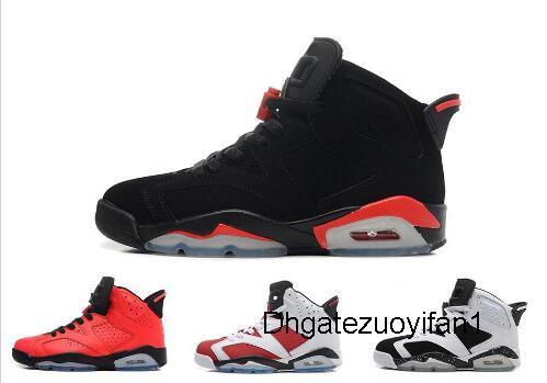 Бесплатная доставка горячей новые 6 дешевые ботинки баскетбола Olympic красный черный Инфракрасный Carmine Sneaker спортивной обуви для интернет-продажи