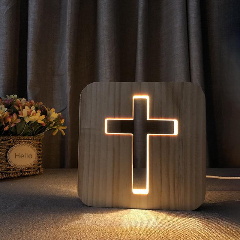 Nordic Ahşap Led Masa Lambası USB Tasarım 3D Tafelamp Yatak Odası Başucu Masa Lambası Vintage Çocuklar Erkek Kız Hediyeler Dekoratif Gece Lambası RW172
