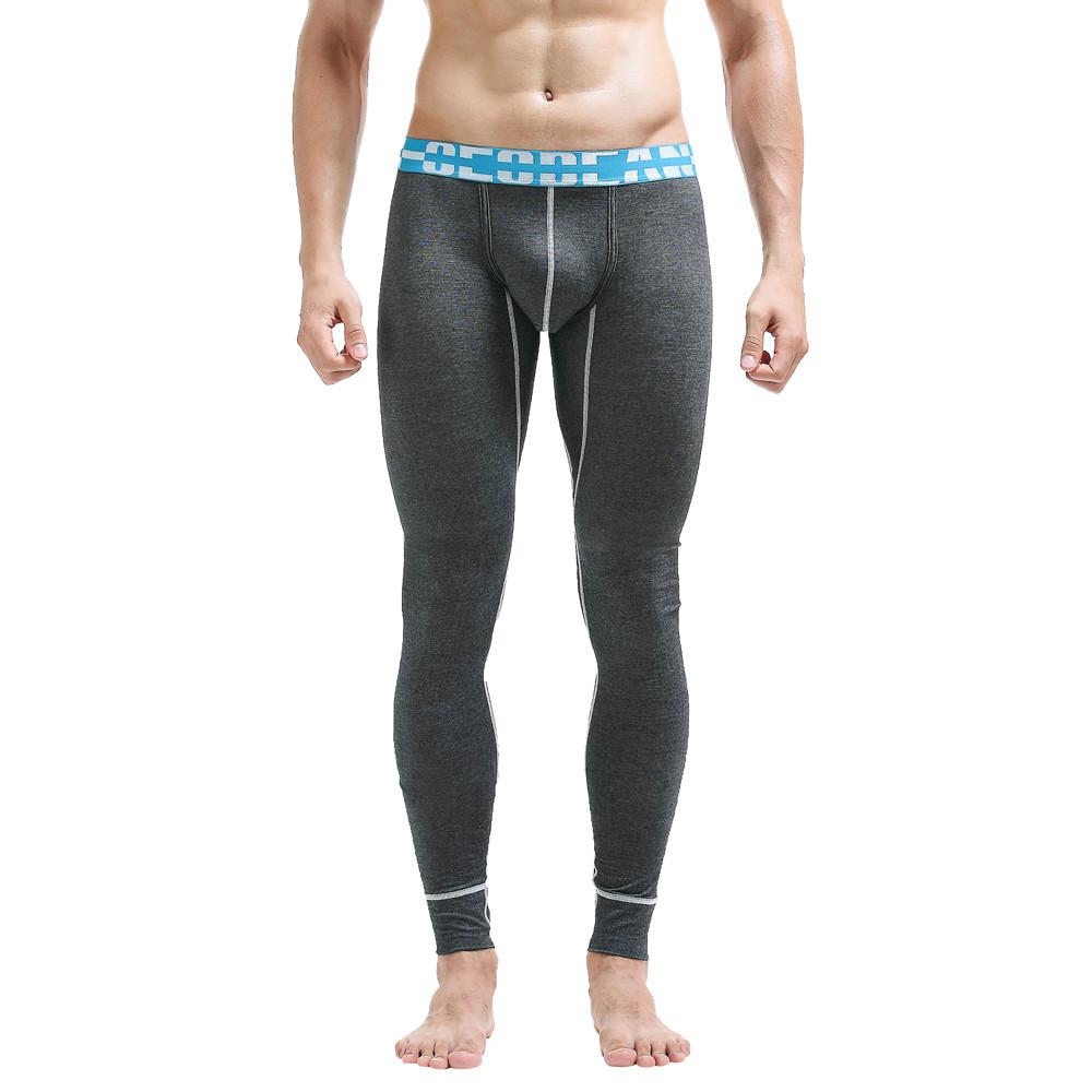New Brand Mens Winter Cotton Breathable Sports Leggings Thermal Long Johns Underwear Pants Autumn Winner Drop Shipping