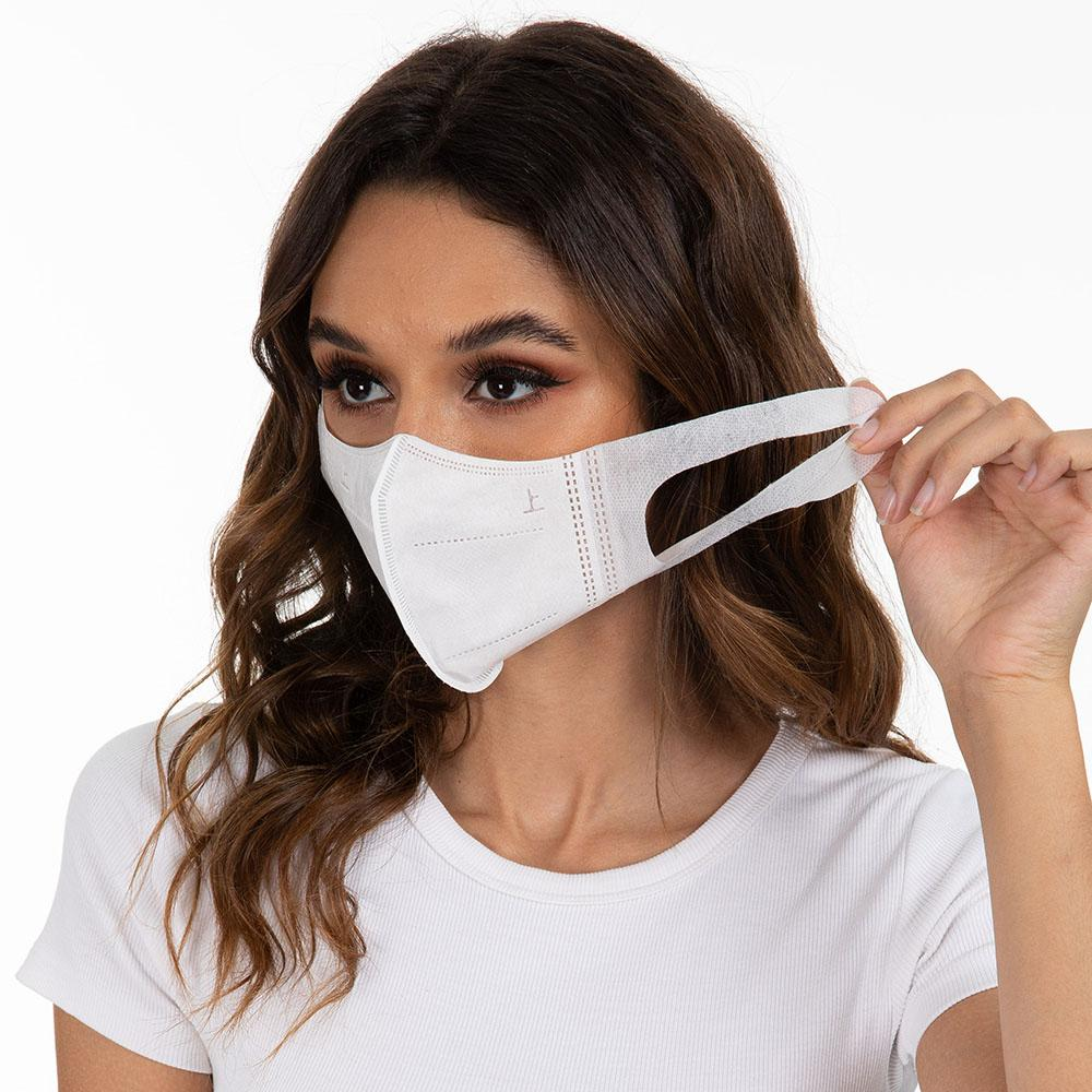 Anti-bacteriana descartável Máscara 3D Stereo Proteção filtro de carvão ativado respirador anti PM2.5 Anti Smog Proteja Máscara Boca Rosto