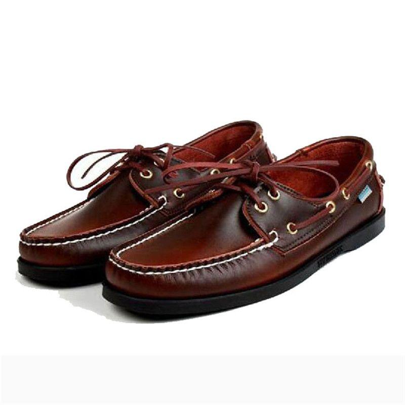 Männer Dockside Schuhe Trend 2020 Wildleder Schuhe-Männer Slip-on Handmade Bootsschuhe 7 # 23 / 20E50