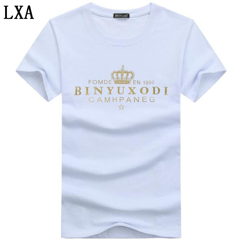 Erkek T-Shirt Yaz Kısa Kollu T gömlek erkekler Basit yaratıcı tasarım Baskı pamuk Marka gömlek Erkekler Top Tees HC-5