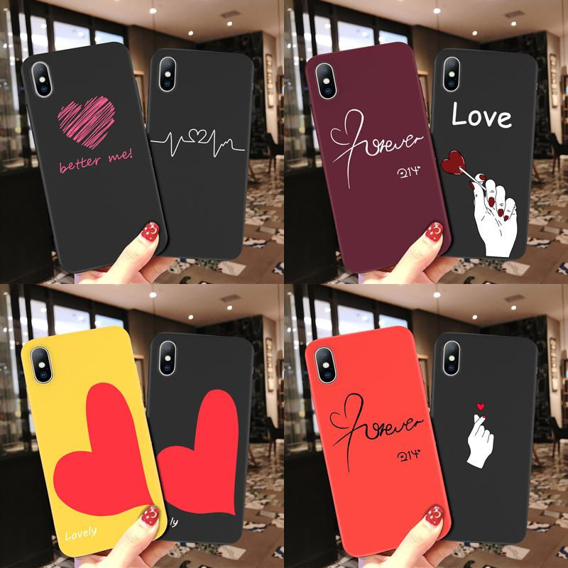Phone Case For Iphone 6 6s 7 8 Plus X Xr Xs Max 5 5s Se Cute Cartoon Love Heart Soft Tpu For Iphone X Couple Phone Case