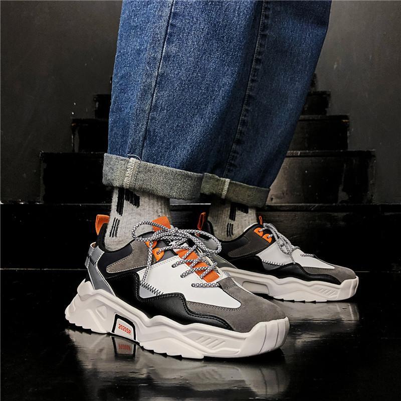 BIGFIRSE Erkekler Günlük Ayakkabılar Trend Açık Işık Adam Moda Sneaker Vulkanize Ayakkabı Zapatillas Hombre 2020 Erkekler Sneakers Dantel-up