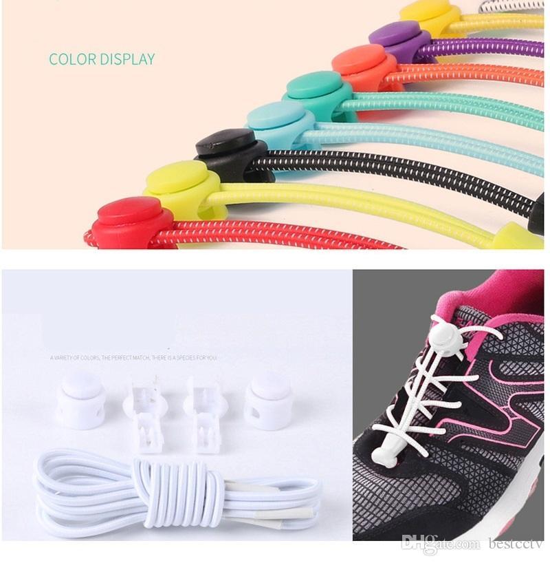Elastic Lock Shoe Laces Shoelace Triathlon Running Trainer Boots Elasticated UK