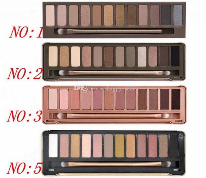Factory Direct DHL Free Shipping New Makeup Eye Hot NO:1/2/3/5 Palette 12 Colors Eyeshadow!