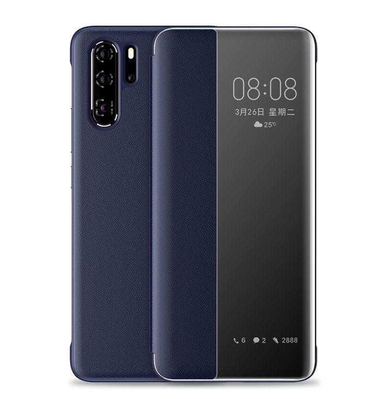 Original Smart Ledertasche für Huawei P40 Pro P30 P20 Nova 5T Luxus klarer Fall für Hauwei Mate-30Pro 30 20Pro 20 10Pro 10