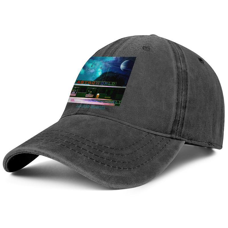 Travis Scott Astroworld Spazio maschile e femminile Trucker Cap denim disegno montato golf originalblank cappelli uniqueteam Skull AstroWorld Tour