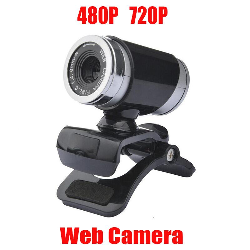 Cámara web de Webcam HD 360 grados Video digital USB 480P 720p PC Webcam con micrófono para computadora portátil Computadora de escritorio Accesorio