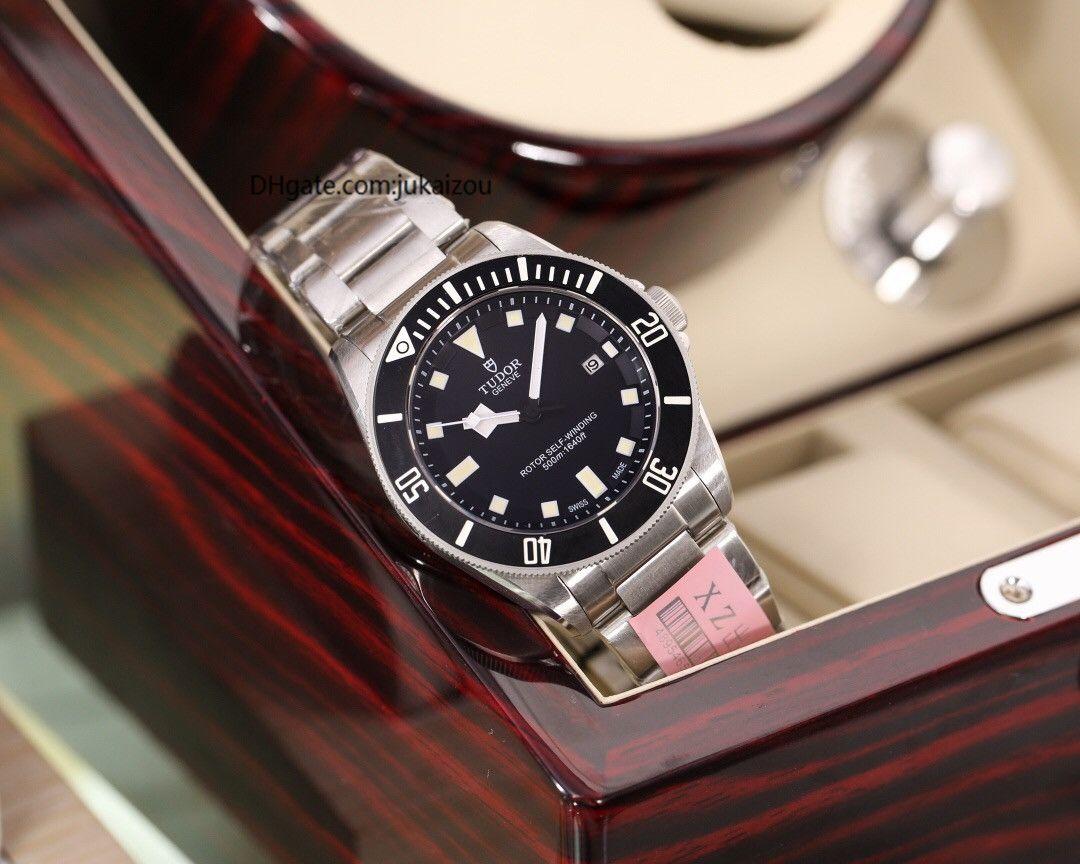 2020 моды роскошь tudorrr мужские часы черный лавровый часы механические движения мужчины часытюдоровский00 часов [не от пролитой шерсти] D2502