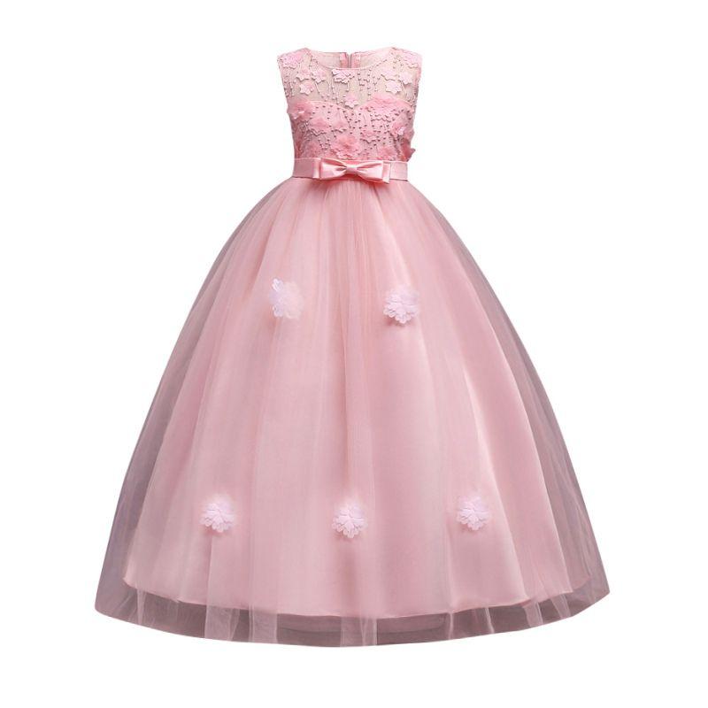 Compre Vestido De Novia Para Niña Vestido Para Niña Vestido Elegante Vestido Para Niños Vestidos Para Niñas Vestidos De Fiesta Formal Ropa A 3106