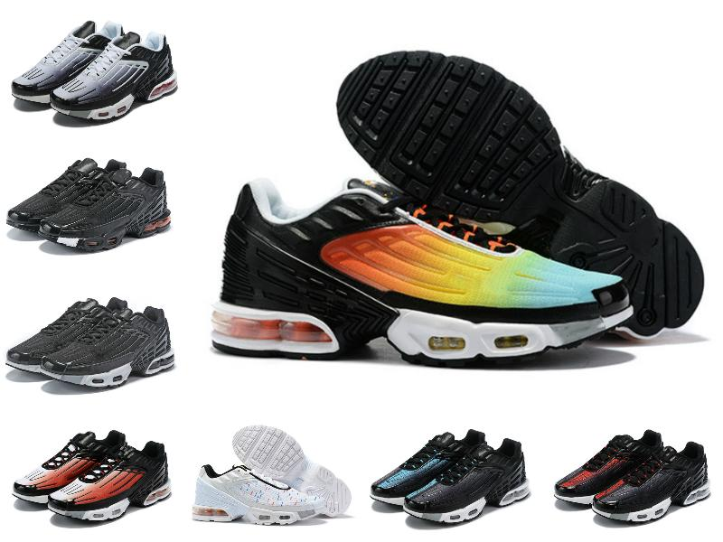 Nuevo 2020 Tuned Mercuial TN Plus III 3 OG Ultra para hombre de los zapatos corrientes de deportes masculino Run Formadores Negro blanco de la araña de las mujeres entrenador de las zapatillas de deporte