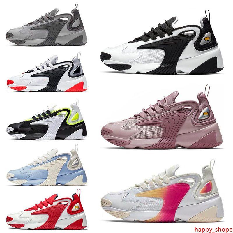 Designer Triple Black M2k Tekno Zoom 2K Men women Running Shoes Cream White Race Red Royal Blue breathable Sports Sneakers Mens Trainers