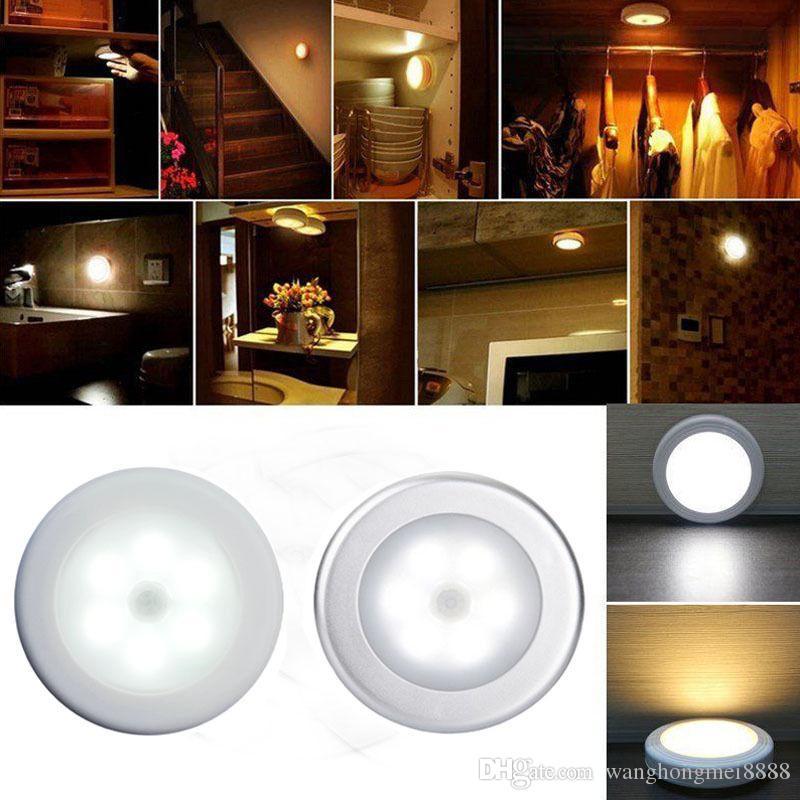 6 LED de luz Lâmpada PIR Auto Motion Sensor Detector infravermelho sem fio Use Em Início roupeiros Indoor / armários / gavetas / escada