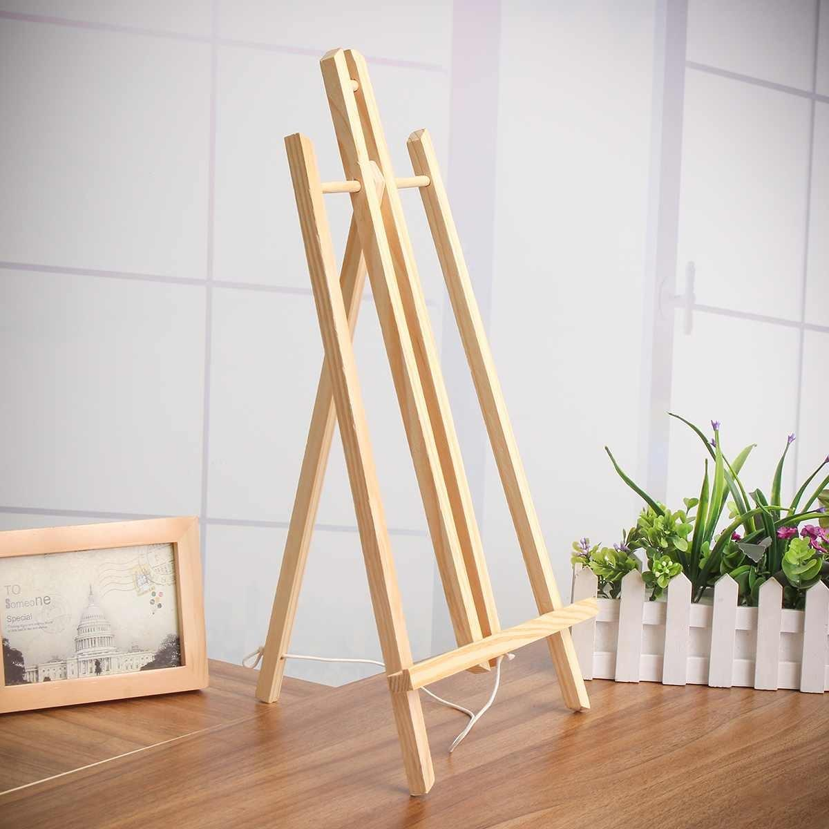 50 centímetros de madeira Cavalete Anúncio Exposição exibição Prateleira Titular estúdio de pintura de madeira stand Suprimentos Decoração do partido da arte Y200428
