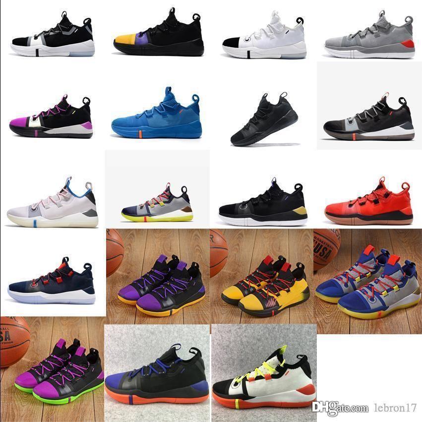 kutusuyla Erkek ZK Bryants reklam basketbol ayakkabıları Black Mamba Mor Pembe Sarı Noel Cadılar Bayramı yeni renkler Kyrie Irving 6s spor ayakkabılar tenis