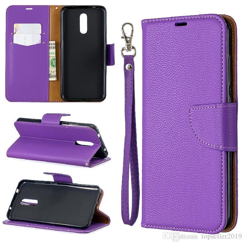 Для NOKIA 3,2 Stand Дизайн кошелек стиль Pure Color кожаный чехол телефон сумка чехол с телефоном случае и владельца карты B082
