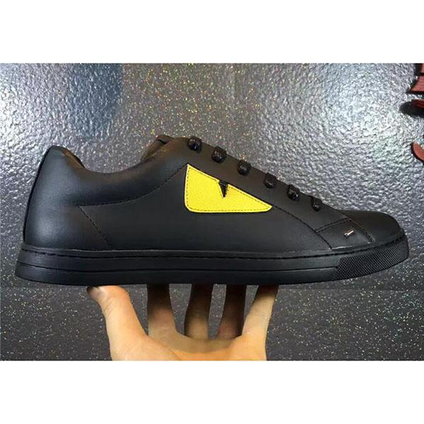 высокое качество маленький монстр глаза камуфляж панда стиль заклепки набор ног мужская кожаная повседневная обувь mvb01S1