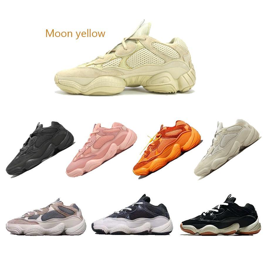 2019 sıcak moda marka erkek kadın tasarımcı erkekler homuss chaussures kanye west 500 ay sarı platformu Dalga Koşucu shoes1564571592112