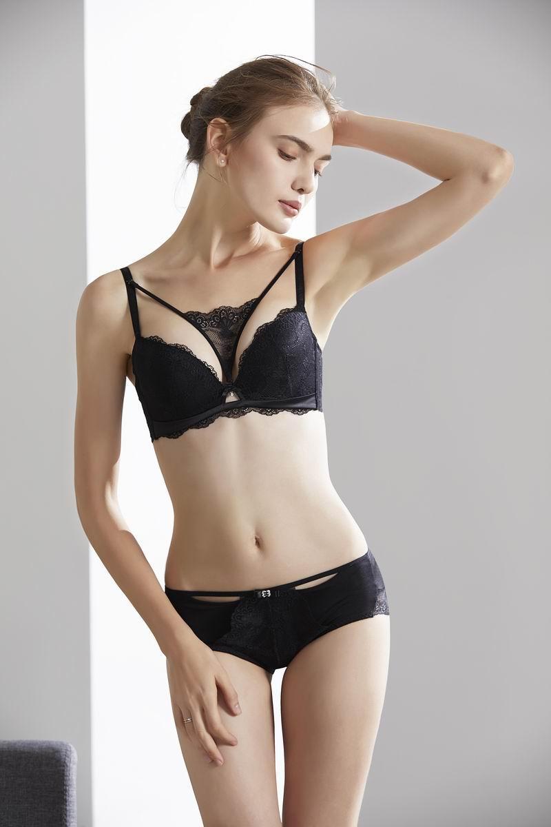 1 stücke bh höschen set sommer neue sexy draht freie dünne mädchen unterwäsche atmungsaktive sammeln top bh seite push up bh v lingerie