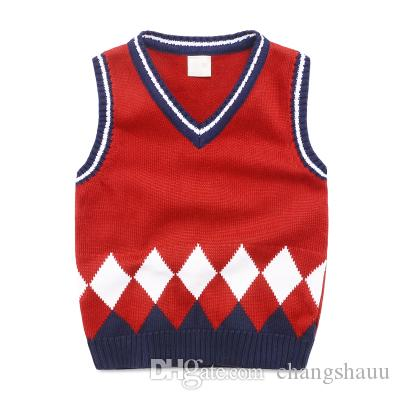 Baby Children Sweater Vest Roupas Infantis Winter College Style V Neck Boys  Clothes Girls Sweaters Knitted Waistcoat Vests Boy Waistcoat Set Boys Black  Waistcoat Age 10 From Changshauu, $21.71| DHgate.Com